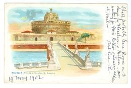 1902, Italy, Roma, Ponte E Castel S.Angelo. Printed Chromo Art Pc, Used. - Other