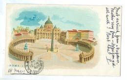 1902, Italy, Roma, S Pietro, Chromo Art Pc. Printed Pc, Used. - Other