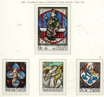 PIA - BELGIO - 1969 : A Profitto Di Opere Di Solidarietà - Vetrate Artistiche - (Yv 1519-22) - Vetri & Vetrate