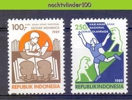 Mgm1380 INTERNATIONALE DAG VAN HET KIND BOEK BOOK INTERNATIONAL DAY OF THE CHILD INDONESIA 1989 PF/MNH - Andere