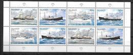 Islande 1995 Mini Feuille Neuve 789/792 Bateaux Postaux - 1944-... Republik