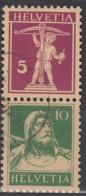 SCHWEIZ S 13, Gestempelt, Tellknabe Und Tell 1927 - Zusammendrucke