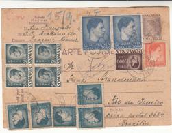 Romania / Stationery / Inflation / Brazil / Registered Postcards - Roumanie