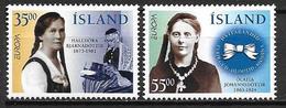 Islande 1996 N°797/798 Neufs Europa Femmes Célébres - 1944-... Republik