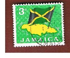 GIAMAICA (JAMAICA)  - SG 221  -  1964  FLAG   - USED° - Giamaica (1962-...)