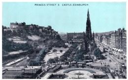 Princes Street & Castle, Edinburgh, Scotland - Vintage PC Unused - Midlothian/ Edinburgh