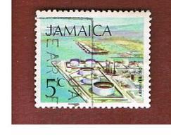 GIAMAICA (JAMAICA)  - SG 348 -  1972  OIL REFINERY  - USED° - Giamaica (1962-...)