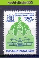 Mgm1389 100 YEAR BIRTHDAY OF IPU INTER-PARLEMENTAIRE UNIE INDONESIA 1989 PF/MNH - Indonesië