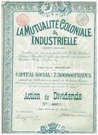 Action Ancienne - La Mutualité Coloniale & Industrielle - Titre De 1899 - N° 00977 - Afrique