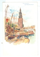 1900's, Netherlands, Amsterdam, Montelbaanstoren. Printed Art Pc, Unused. - Amsterdam