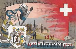 1899 CALVENFEIER  → Schöne & Seltene Gedenkkarte Anno 1899  ►RRR◄ - GR Graubünden