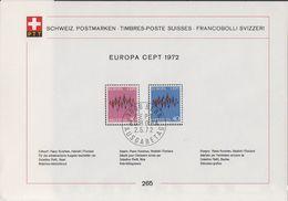 Europa Cept 1972 Switzerland ETB 265 (F7419) - 1972