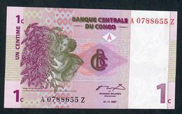 CONGO DEMOCRATIC REPUBLIC P80r 1  CENTIME  1997  REMPLACEMENT A---Z   UNC. - Congo