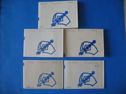France Vignettes - Lot  5 Carnet Code Postal Tours Et Mulhouse Vert - Orléans Renne Lilas - Nice Bleu   Neuf ** - Commemorative Labels