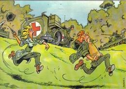 Carte Postale Humour Militaire Par Mazel Infirmière Croix Rouge - Humor