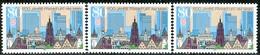 A12-31-7) BRD - 3x Mi 1721 - ** Postfrisch (B) - 80Pf      1200 Jahre Frankfurt/Main - [7] République Fédérale