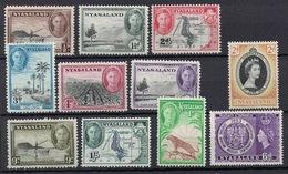 Nyasaland 1945 - 1953, Lot With 11 Stamps **, MNH - Nyassaland (1907-1953)
