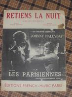 Johnny Hallyday - Catherine Deneuve - Partition Retiens La Nuit - Partituren