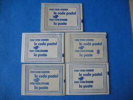 France Vignettes - Lot  5 Carnet Code Postal  Mulhouse Vert - Le Mans Orléans Mulhouse Lilas - Nice Jaune  Neuf ** - Erinnophilie
