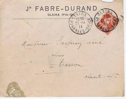 Enveloppe En-tête - PYRENEES-ORIENTALES - Jh. FABRE-DURAND - CLAIRA - Historische Documenten
