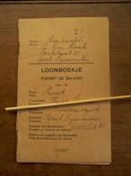 Loonboekje  1940  Bierhandel L. Van  Houcke  Groot - Bijgaarden  Gedr. DUCAJU  - DE VYLDER   AALST - Factures