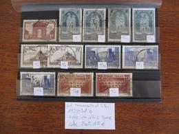 FRANCE 1ère SÉRIE TOURISTIQUE 1929-31 AVEC VARIÉTÉS OBLITÉRÉ COTE 205 EUROS - France