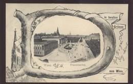 AUSTRIA WIEN FRANZENSRING OLD POSTCARD 1904 - Ringstrasse