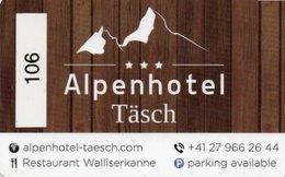 KEY CARD-AUSTRIA-ALPENHOTEL TASCH-TIROLERHOF - Chiavi Elettroniche Di Alberghi