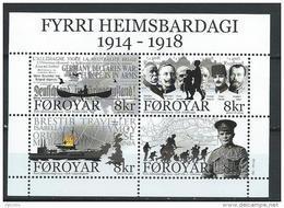 Iles Féroé 2014 Bloc F810 Neuf 1ere Guerre Mondiale - Faroe Islands