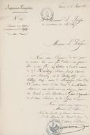 Paris 1866 Sapeurs Pompiers Village Neuf Canton De Huningue Généalogie Ruedy - Documents Historiques