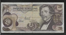 Autriche - 20 Schilling - Pick N° 142 - TB - Austria