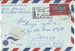 Luxembourg Letter Via Yugoslavia 1963.meter Stamp - Buvez Les Bons Vinsde La Moselle.motive Wine / Vin/ Wein - Luxembourg