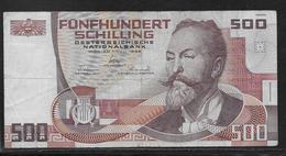 Autriche - 500 Schilling - Pick N° 151 - TTB - Austria