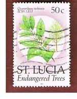 ST. LUCIA - MI 965 I  -  19890 PLANTS: QUARARIBAEA TURBINATA -   USED - St.Lucia (1979-...)