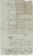Neuf Brisach 1810 Congé De Licenciement Blotzheim - Documents Historiques