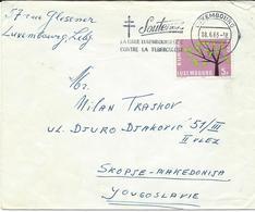Luxembourg Letter Via Yugoslavia 1963.meter Stamp - Soutenez La Ligue Luxembourgeoise Contre La Tuberculose.RED CROSS - Luxembourg