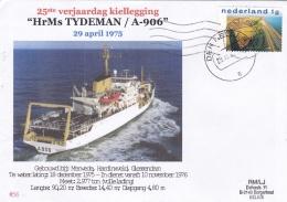 Netherlands Hr Ms Tydeman A-906 25 Years Anniversary P/m Den Helder 2000  (DD22-12) - Militaria