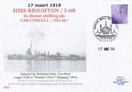 British HMS Brighton I-08 - Later Given To The Soviet Navy As Zharki P/m Royal Mail Brighton 2004 (DD22-12) - Militaria