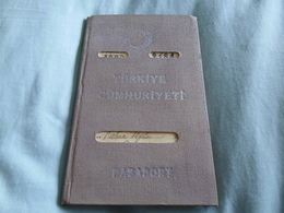 1951 Turkey Reisepass Passport Istanbul. Swiss, German, Greek(!) Handstamps. Fiscals. - Historical Documents