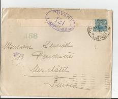 Env  Censurée Cad  POSTES MILITAIRE BELGE  1918 Pour NEUFCHATEL TB - Postmark Collection (Covers)