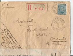Env Cad  POSTES MILITAIRE BELGIQUE R  REC Et Censurée  10/1/1917  TB - Postmark Collection (Covers)
