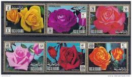 1972 RAS AL KHAIMA  Michel 853-58** Fleurs, Roses - Ras Al-Khaima