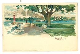 1890's, Switzerland, Geneva, E Nister Art Pc. Printed Pc, Unused. - GE Genève