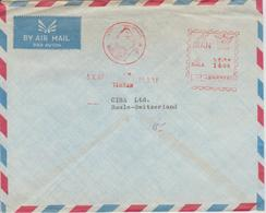Iran EMA 1967 Sur Lettre D'Iran Pour La Suisse - Iran