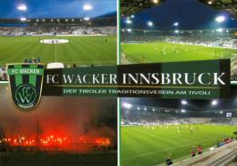2) AK Stadion Postkarte Tivoli Neu Innsbruck FC Wacker Tirol Fußball Football Stadium Österreich Austria Stadio Estadio - Fussball