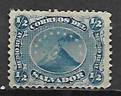 SALVADOR   -   1867 .  Y&T N° 1 (*) .  Volcan - El Salvador