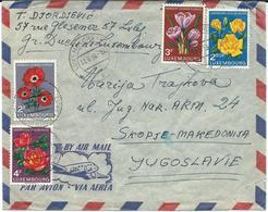 "Luxembourg Par Avion Letter Via Yugoslavia 1956.Mondorf-les-Bains Flower Festival & Luxembourg ""City Of Roses"" - Luxemburg"