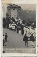 ITALIE. CARTE PHOTO.  FESTA DELLA MADONNA DEL PIANO. TAVOLE 1933 - Italie