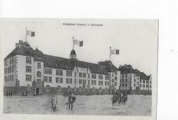 1 Cpa Colmar : Casernes Avec Animation Et Soldats - Colmar