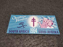 ANTIQUE SOUTH AFRICA CINDERELLA POSTER STAMP CARNET 5C ANTI TUBERCULOSIS 1964 - Autres